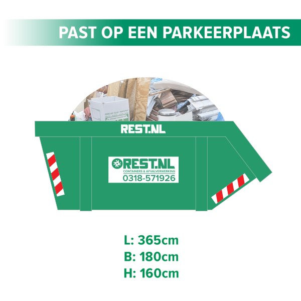 10m3 grofvuil container