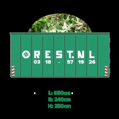 40m3 groenafval container huren