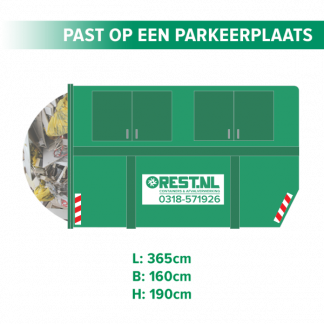 10m3 gesloten bouwafval container