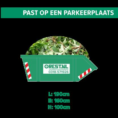 3m3 groenafval container