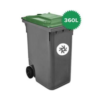 360 liter kunststof rolcontainer