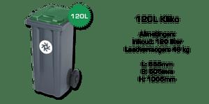 120 liter kunststof rolcontainer