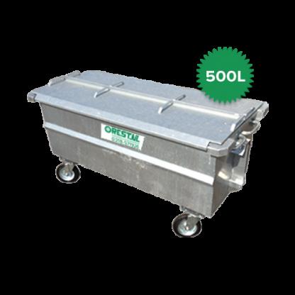 500 liter stalen rolcontainer