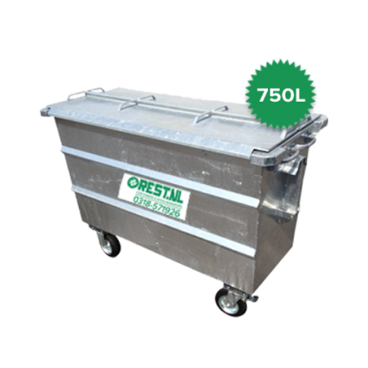 750 liter rolcontainer staal