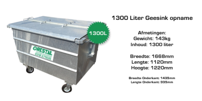 1300l stalen rolcontainer