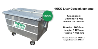 1600l stalen rolcontainer