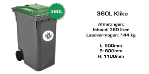 rolcontainer 360 liter