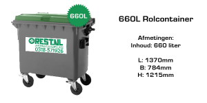 rolcontainer 660 liter