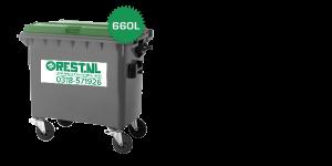 rolcontainer 660 liter