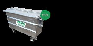 stalen rolcontainer 750 liter