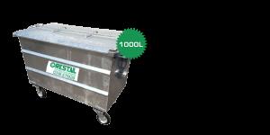 stalen rolcontainer 1000 liter