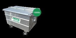 stalen rolcontainer 1300 liter