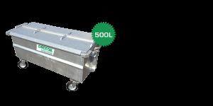 stalen rolcontainer 500 liter