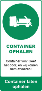 Container laten ophalen